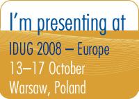 I'm presenting at IDUG 2008 Europe